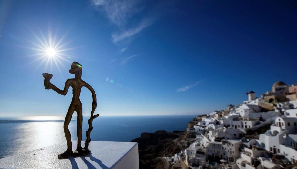 Santorini castle view