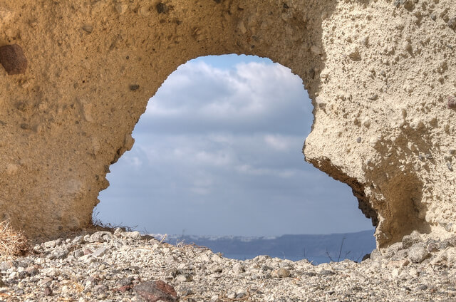 Heart Rock of Santorini