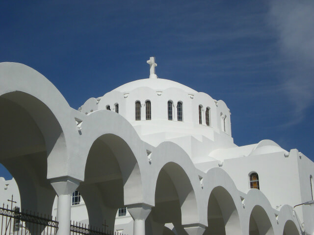 Orthodox Metropolitan church in Santorini