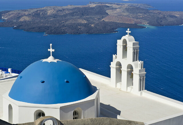 St. Gerasimos Christian Church in Santorini