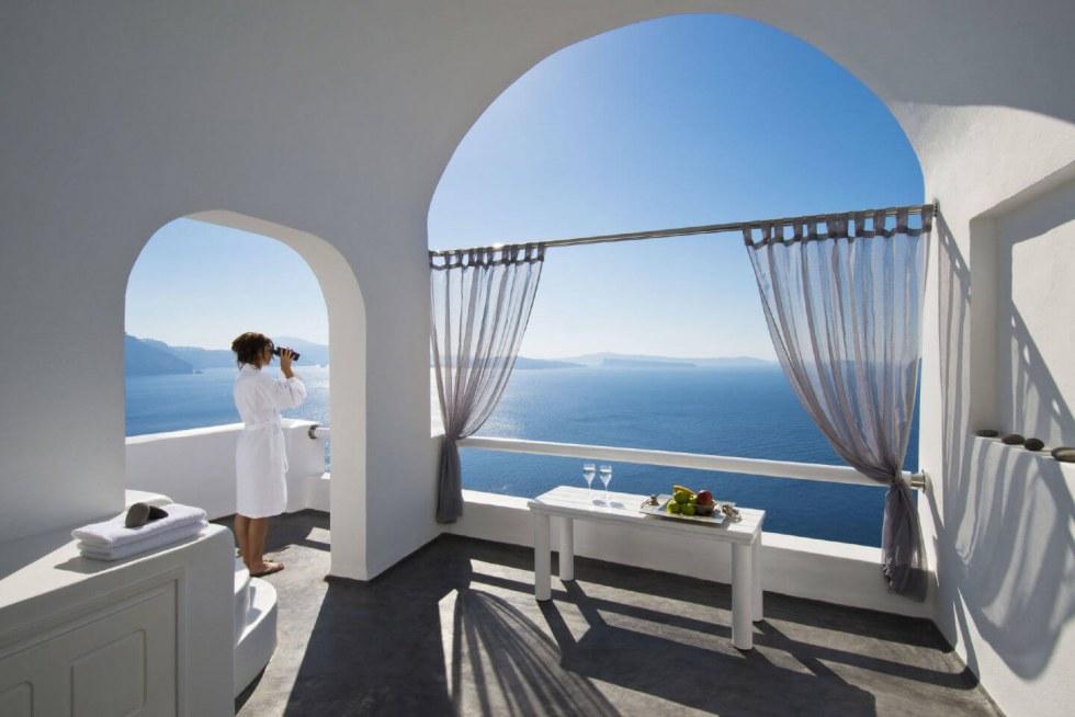 Santorini hotel seaview