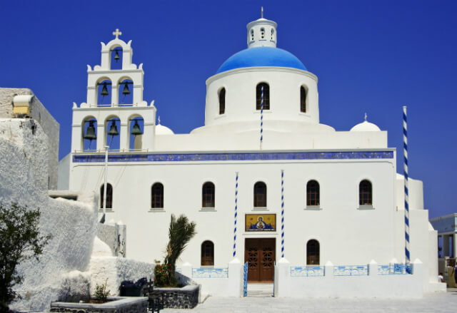 Church of Panagia Platsani in Oia, Santorini