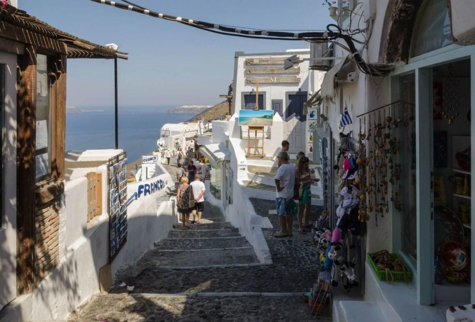 Fira town in Santorini