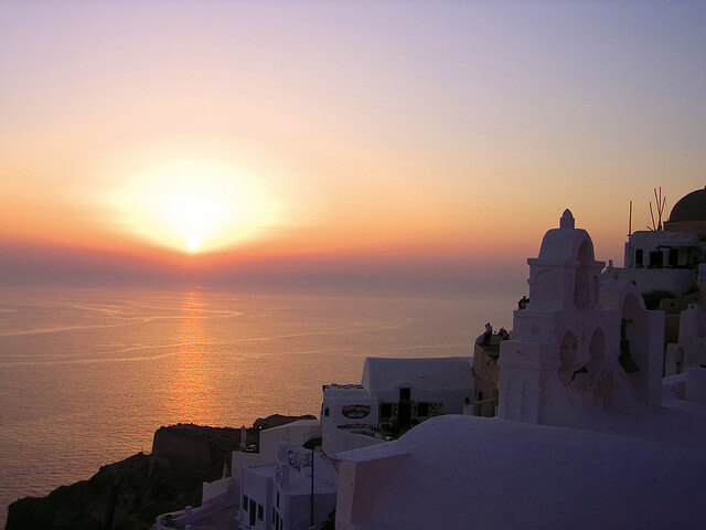 Oia sunset in Santorini