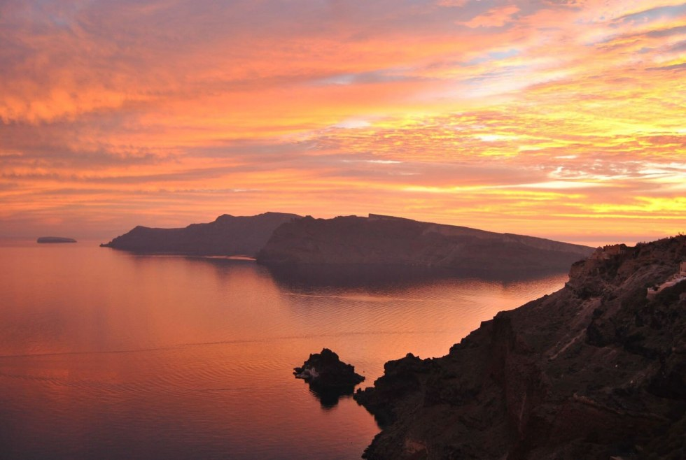 Santorini sunset view