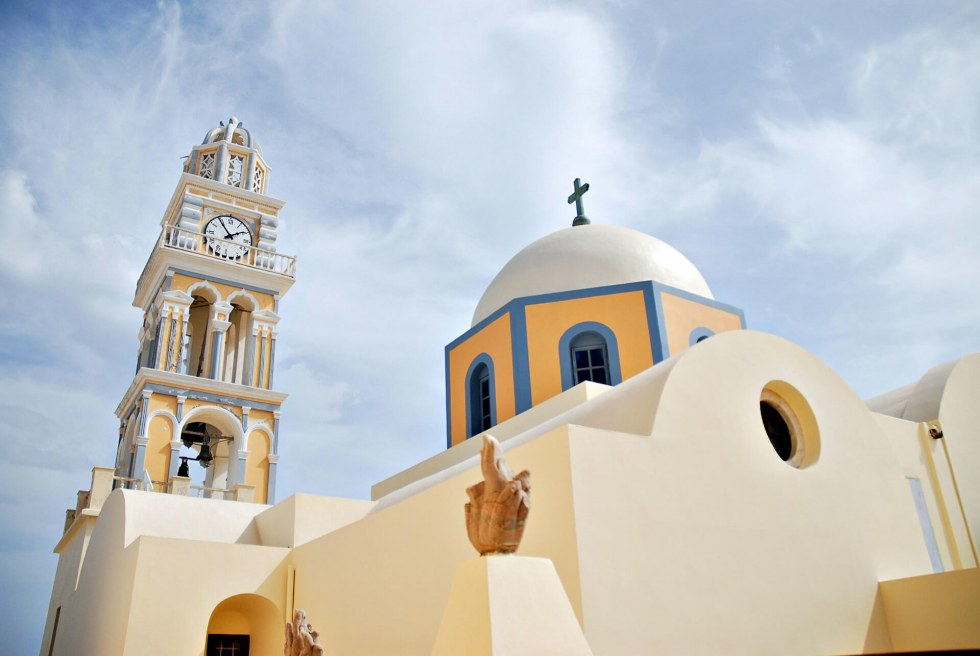 The Catholic Cathedral of St. John Baptist in Santorini