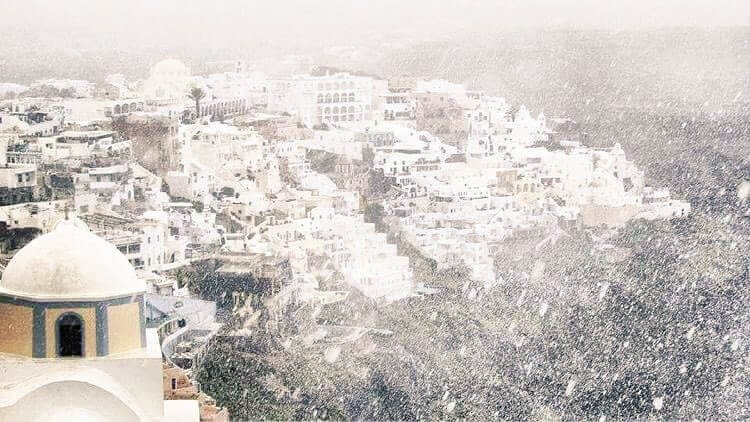 Winter Santorini
